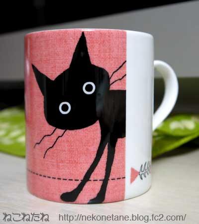猫のマグカップ写真