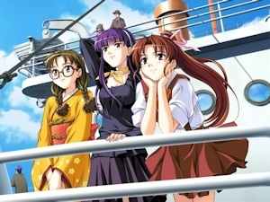 船上の三人娘