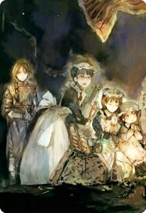女騎士とメイド軍団