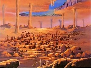 ガミラス星内殻の地表