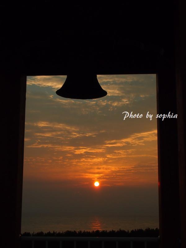 夕日と鐘その2