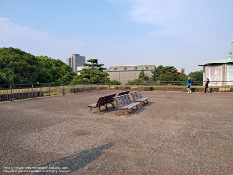皇居東御苑の天守台(江戸城天守跡)