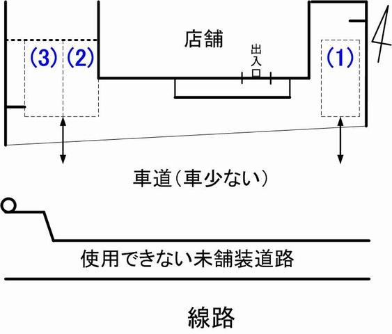 蔵漆倶駐車場見取り図3
