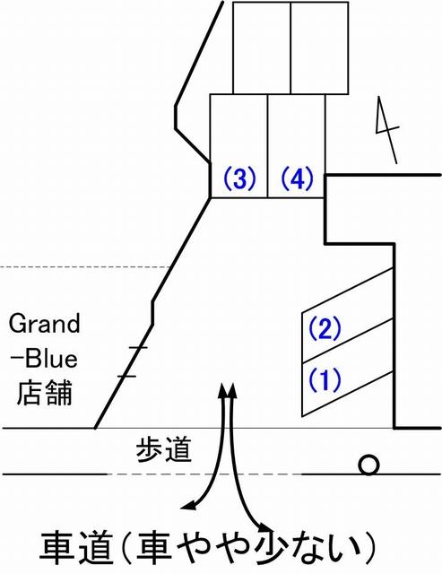 Grand-Blueメイン駐車場見取り図