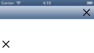 iOS 6 button