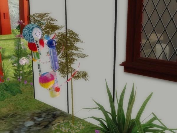 七夕までに笹飾り(Sims2)