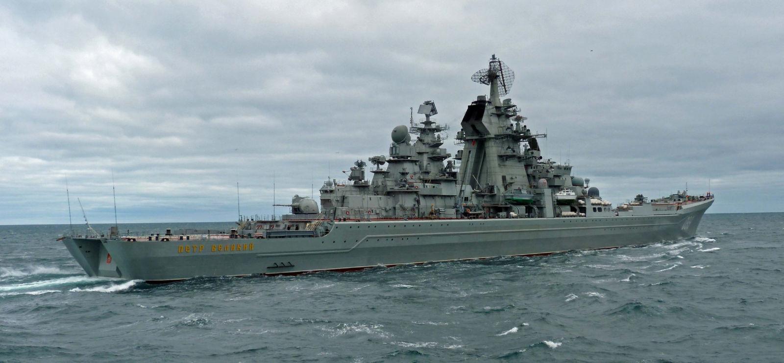 重原子力ロケット巡洋艦ピョートル・ヴェリキーはアイルランド沖に居る ...