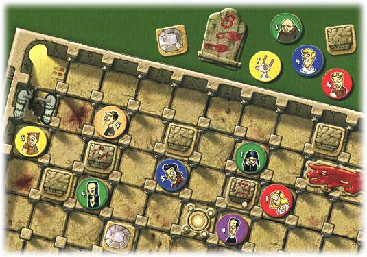 暗黒の大広間:箱裏のゲームの様子