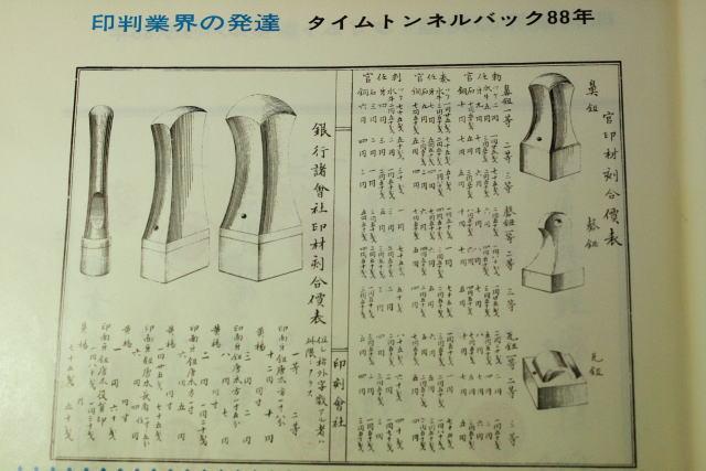 昔の印章カタログ 手彫り印鑑