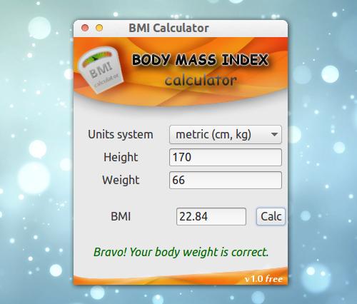 BMI Calculator Ubuntu BMI 計算 電卓