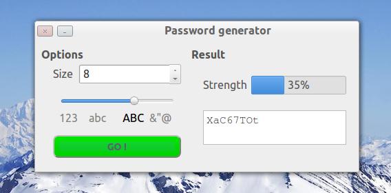 Password Generator Ubuntu パスワード生成 文字数と文字種の設定
