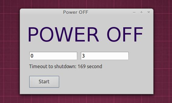 Power-OFF Ubuntu シャットダウンタイマー