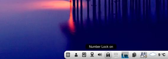 Soft Num Lock Ubuntu Cinnamon アプレット