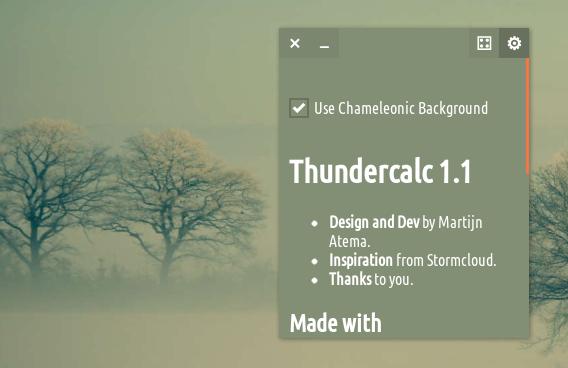 Thundercalc Ubuntu 電卓 カラーオプション