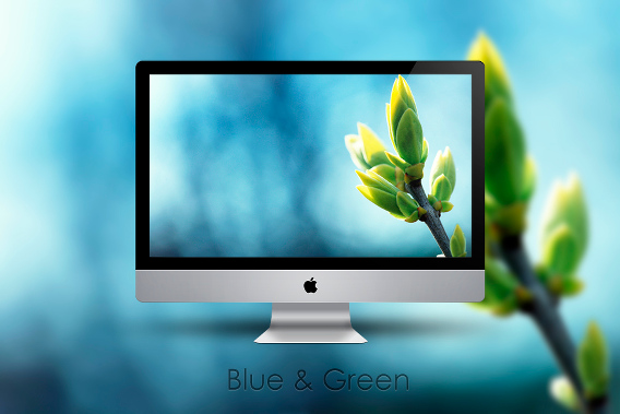 Blue and Green Ubuntu 壁紙