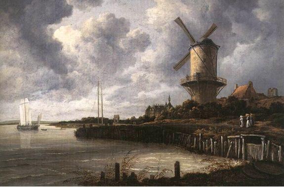 当時のフランドルの風景 ヤコブ・ファン・ロイスタール「バイドゥールステーデの風景」